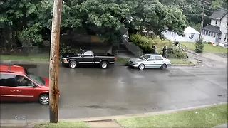 Jamestown officers shoot, kill dog after charging at them - Video