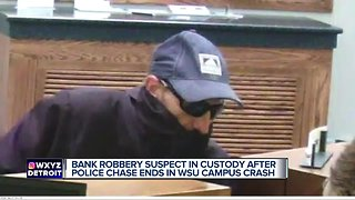Madison Heights bank robbery suspect arrested after attempting to carjack WSU student