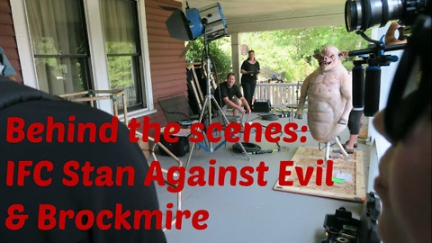 TV BTS: IFC Stand Against Evil & Brockmire