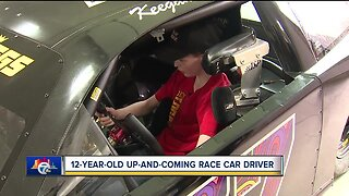 12-year-old Macomb County race car driver hitting speeds up to 80 mph