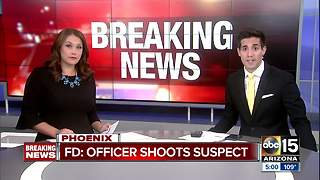 Suspect shot by officer in Phoenix Sunday - Video
