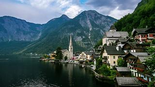 Breathtaking Views of Hallstatt Lake, Austria - Video
