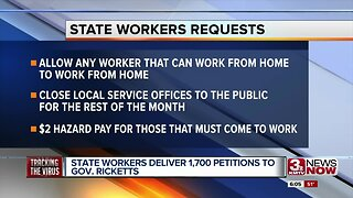 State workers deliver 1,700 petitions to Gov. Ricketts
