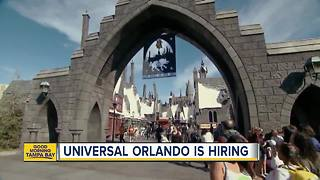 Universal Orlando is hiring for 3,000 positions - Video