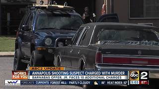 Man charged with murder in Annapolis shooting.