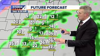 Temps break 50 Thursday, then quickly plummet - Video
