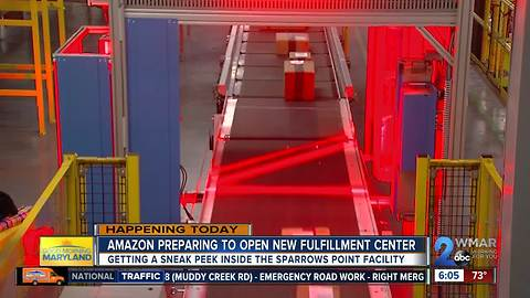 Amazon preparing to open new fulfillment center in Sparrows Point