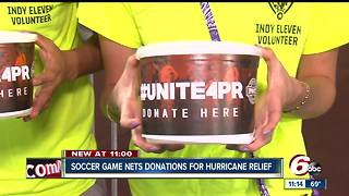 Soccer game nets donations for hurricane relief - Video
