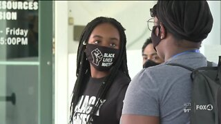 Protest in Collier County calls for sheriff's office to be defunded