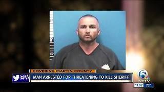 Man arrested for threatening to kill Martin County Sheriff, deputies say - Video
