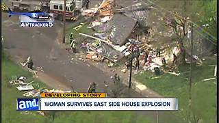 House decimated after explosion on Cleveland's east side - Video