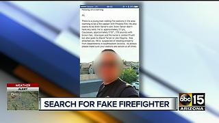 Case Grande officials warning against fake firefighter - Video