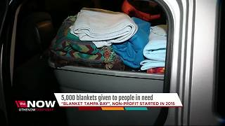 Local non-profit gives 5,000 blankets to people in need, and counting