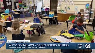 WXYZ-TV giving away more than 10,000 books to children through 'If You Give A Child A Book' campaign