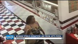 Employees at Glendale pizza restaurant looking for charity jar thief - Video