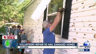Volunteers repair 50 hail-damaged homes ahead of winter weather