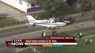 Small plane crashes in St. Pete - Video
