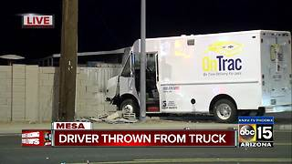 PD: Delivery driver thrown from car in Mesa - Video