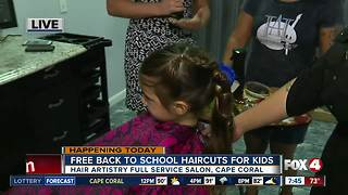 Local salon offers free back to school haircuts - Video