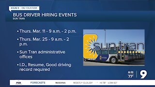 Sun Tran looks to hire bus drivers at open house events
