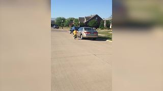 Bike Fail: Little Boy Crashes His Bicycle Into Parked Car - Video