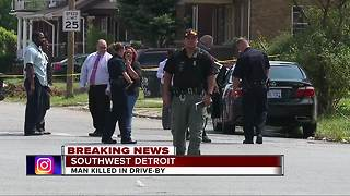 Man killed in drive-by shooting in southwest Detroit - Video