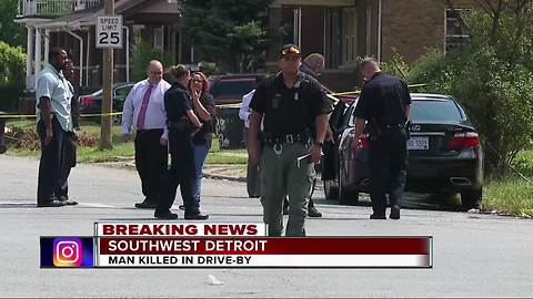 Man killed in drive-by shooting in southwest Detroit