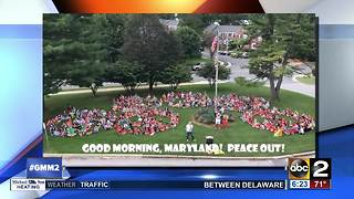Good morning and keep the peace with Rodgers Forge Elementary School - Video
