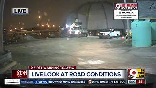Road crews preparing for potentially icy morning commute - Video