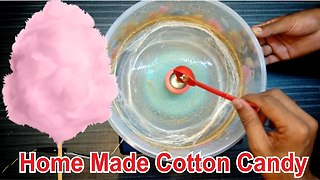 How To Make Cotton Candy Without Machine - Video