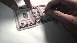 Talented Artist Turns Bank Note Into the $5 'Bill' Murray - Video
