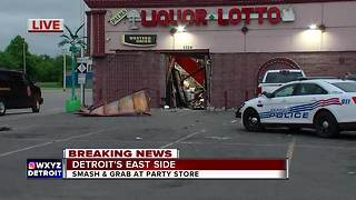 Smash-and-grab reported at Detroit liquor store - Video