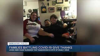 Families battling COVID share how they're staying positive this Thanksgiving