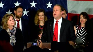 Democrat Jared Polis gives victory speech after winning Colorado governor's race