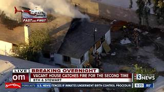 Vacant house catches on fire again | Breaking news - Video
