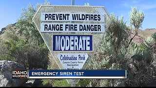 Canyon County testing emergency wildfire siren