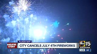 Flagstaff canceling annual July 4th fireworks - Video