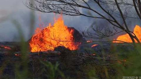 Lava Spews From Fissures in Hawaii's Leilani Estates