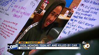 Vigil honors Lemon Grove teen hit, killed by car