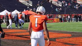 Penn State CB Christian Campbell at the Senior Bowl - Video