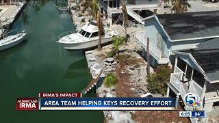 Area team helping Keys recovery effort - Video