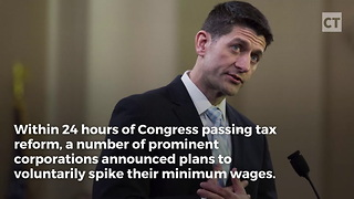 GOP Tax Bill Spurs Voluntary Minimum Wage Increases - Video