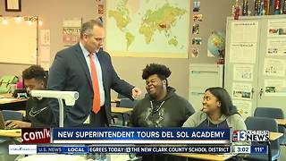 New superintendent tours school - Video
