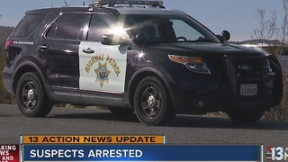 Two in custody for shooting at California Highway Patrol officers - Video