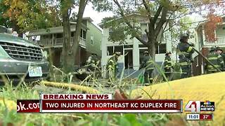 Woman jumps from second story to escape fire - Video