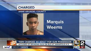 Annapolis High School teen to be charged as an adult - Video
