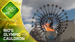 Rio 2016: Brazil's spectacular Olympic cauldron - Video