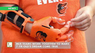 MLB Teams Work Together To Make 7-Yr-Old's Dream Come True - Video