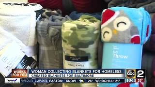 Local woman collecting blankets for homeless - Video
