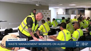 Waste Management workers on alert